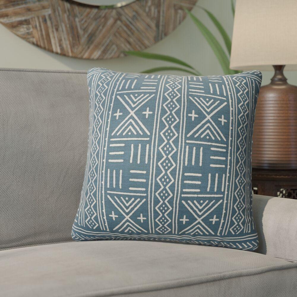 Bemelle Mud Cloth Geometric Throw Pillow Size: 16