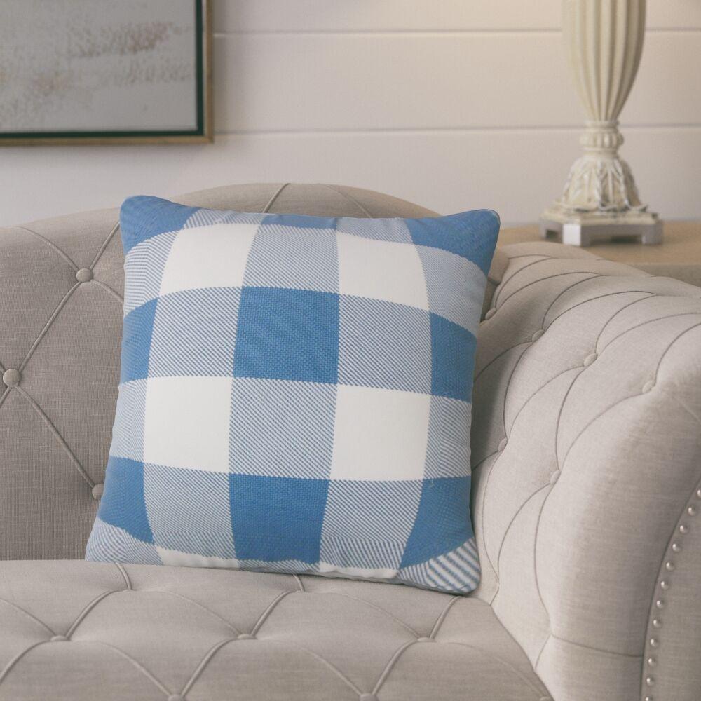 Ronzi Plaid Down Filled 100% Cotton Throw Pillow Size: 20