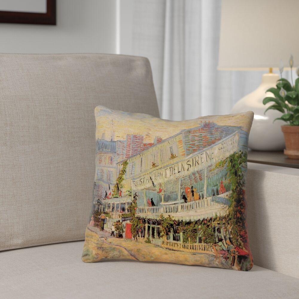 Bristol Woods Restaurant de la Sirene Square Pillow Cover Size: 18