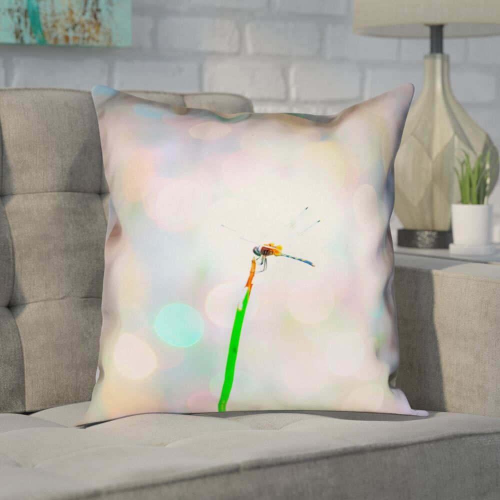 Centreville Dragonfly and Lights Double Sided Throw Pillow Size: 26