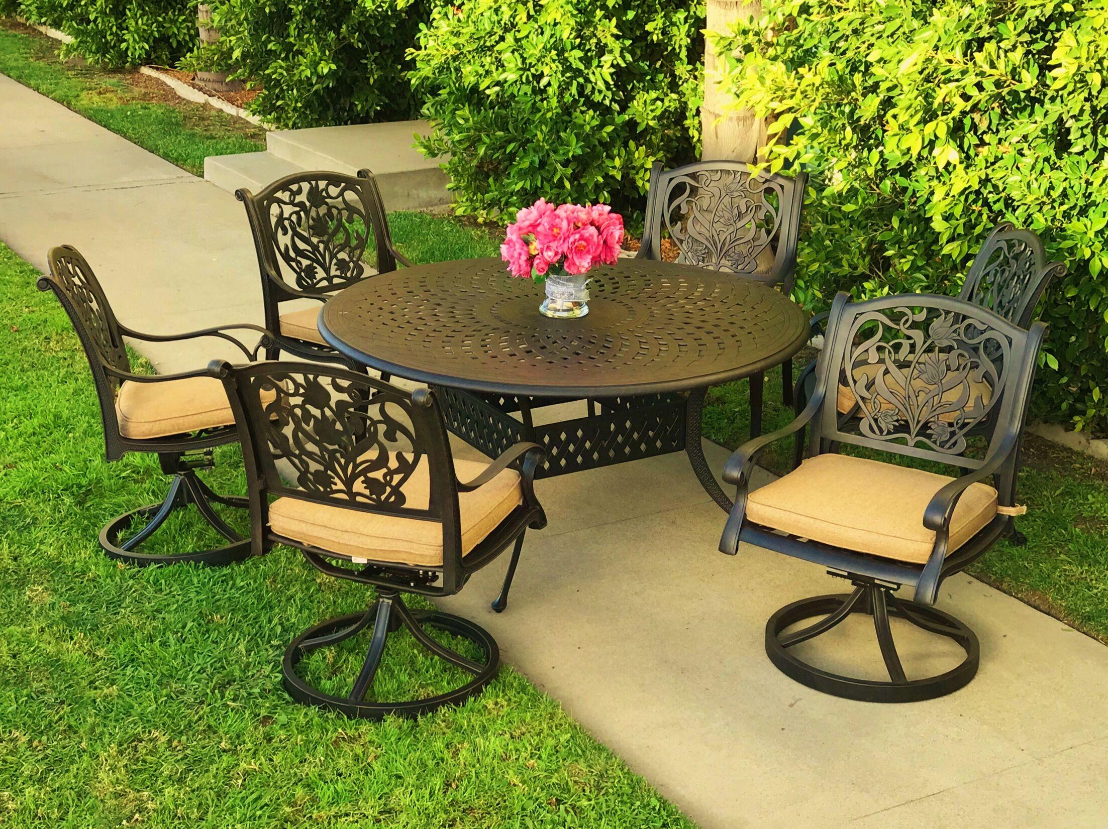 Camptown 7 Piece Sunbrella Dining Set with Cushions