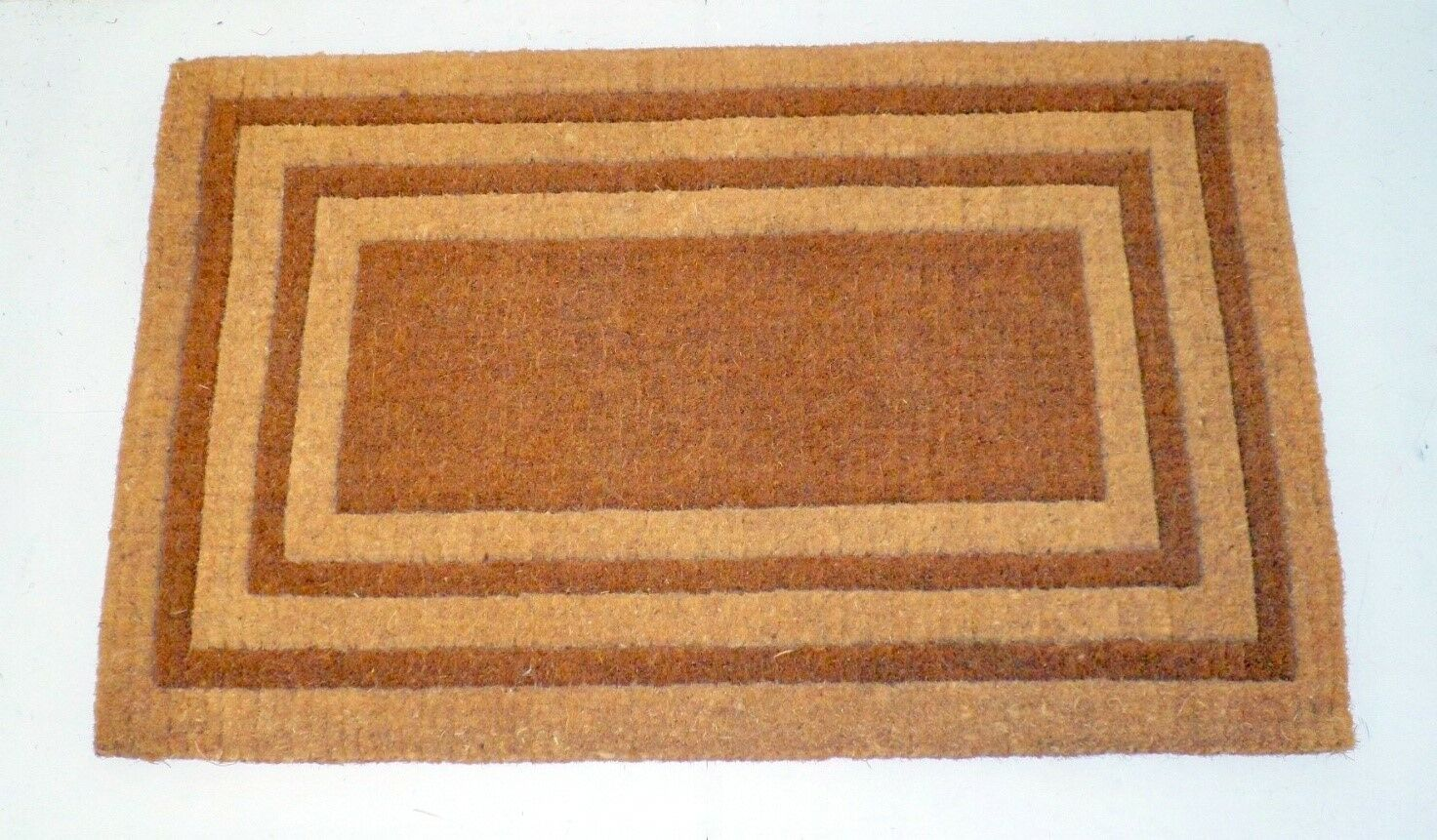 Balmer Bleach Triple Border Doormat Mat Size: Rectange 2'6