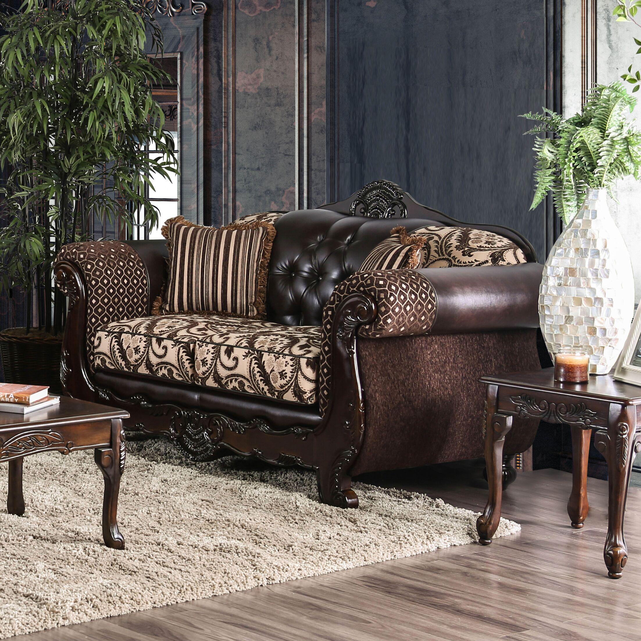Riddles Loveseat Upholstery: Light Brown