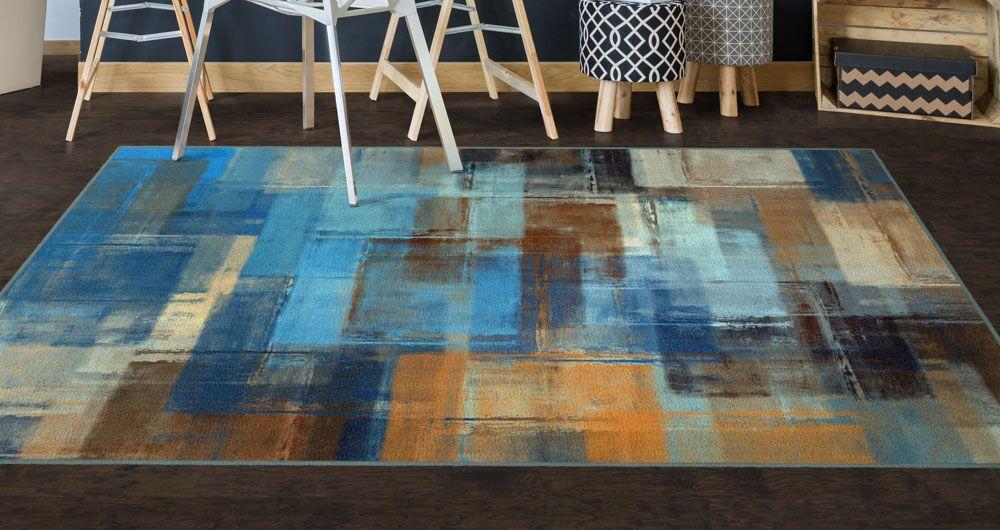 Cosentino Blue Area Rug Rug Size: Rectangle 5' x 8'