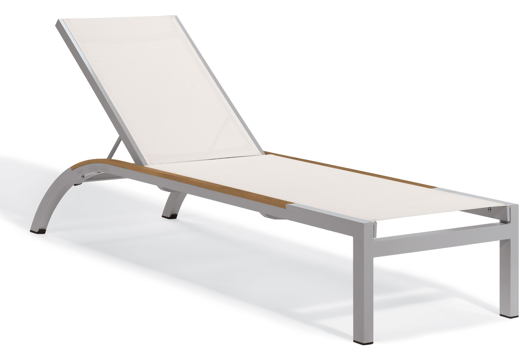 Saleem Armless Reclining Chaise Lounge Color: Natural, Frame Color: Tekwood Natural