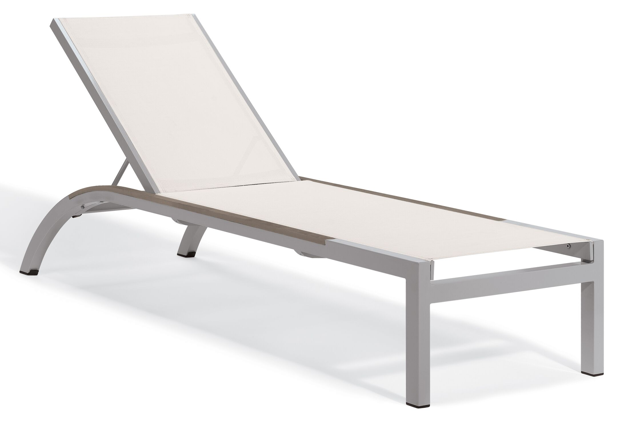 Saleem Armless Reclining Chaise Lounge Color: Natural, Frame Color: Tekwood Vintag