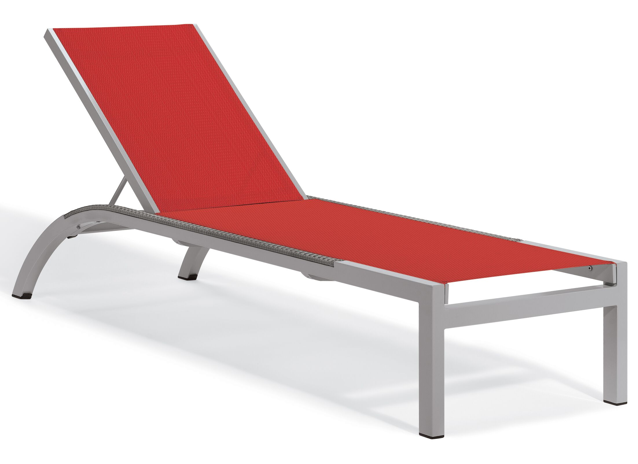 Saleem Reclining Chaise Lounge Color: Red