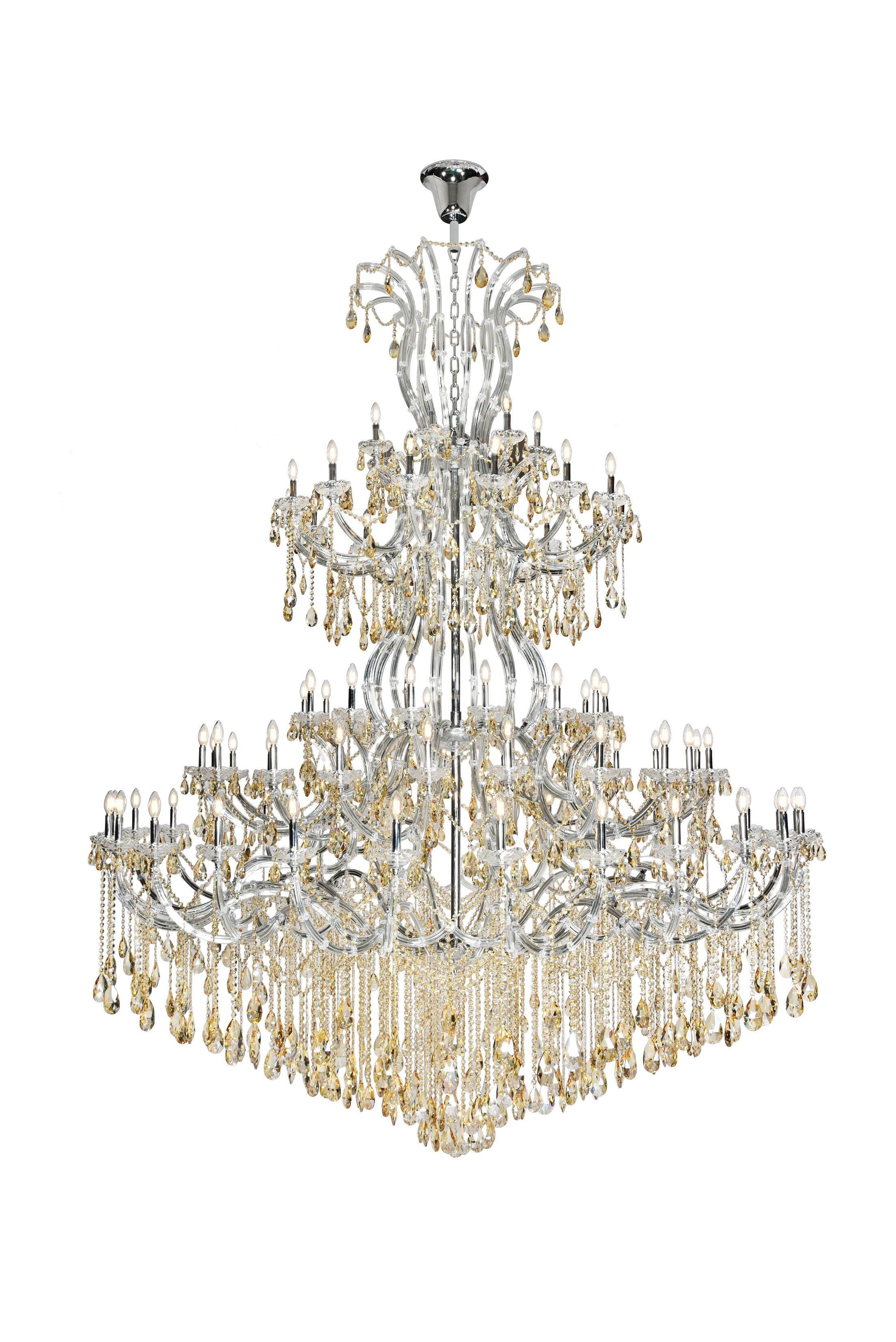 Regina 84-Light Chandelier Finish: Chrome, Crystal Color: Clear, Crystal Type: Royal Cut
