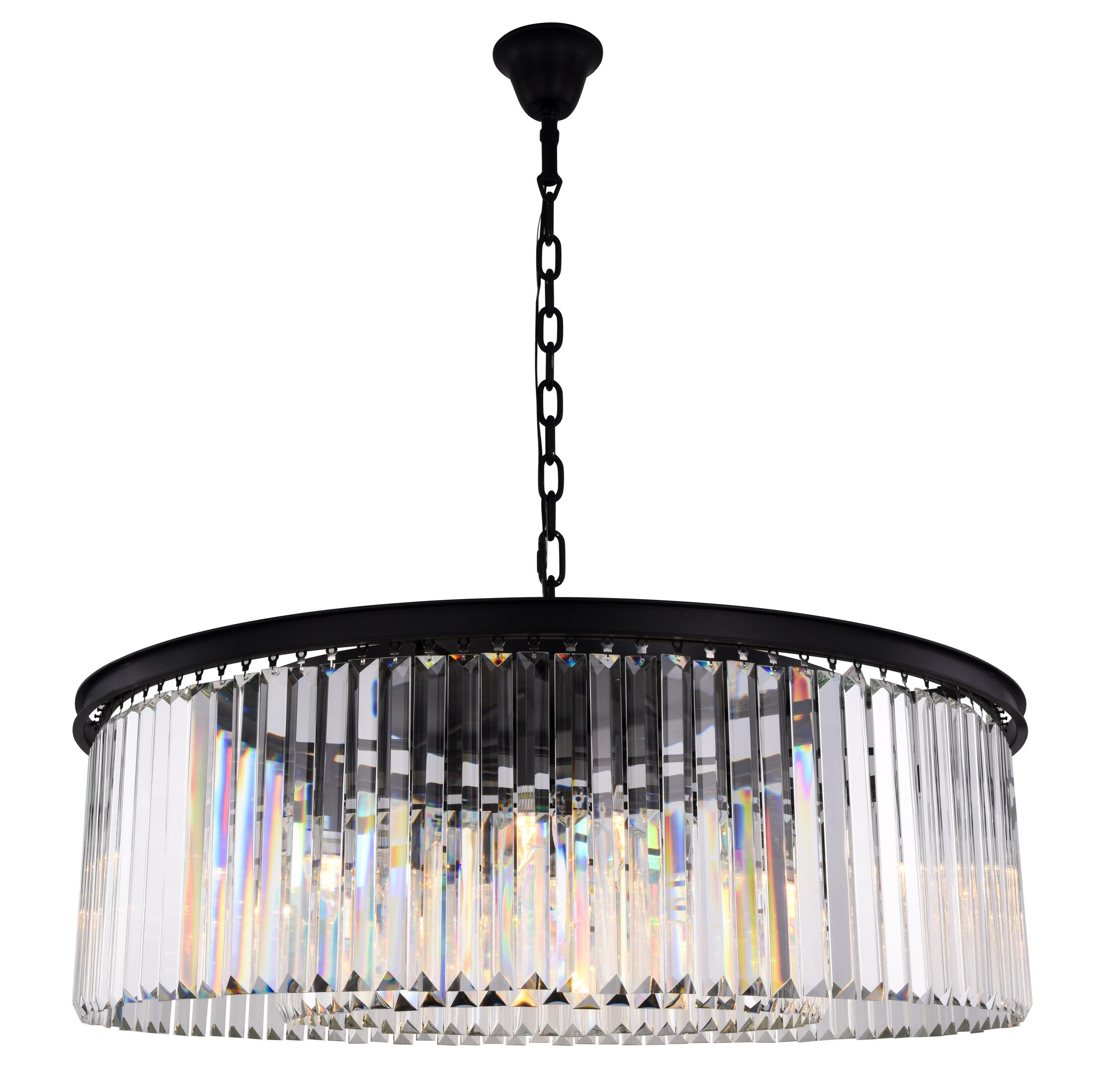 Lavinia 10-Light Crystal Chandelier Crystal Color: Clear, Finish: Matte Black