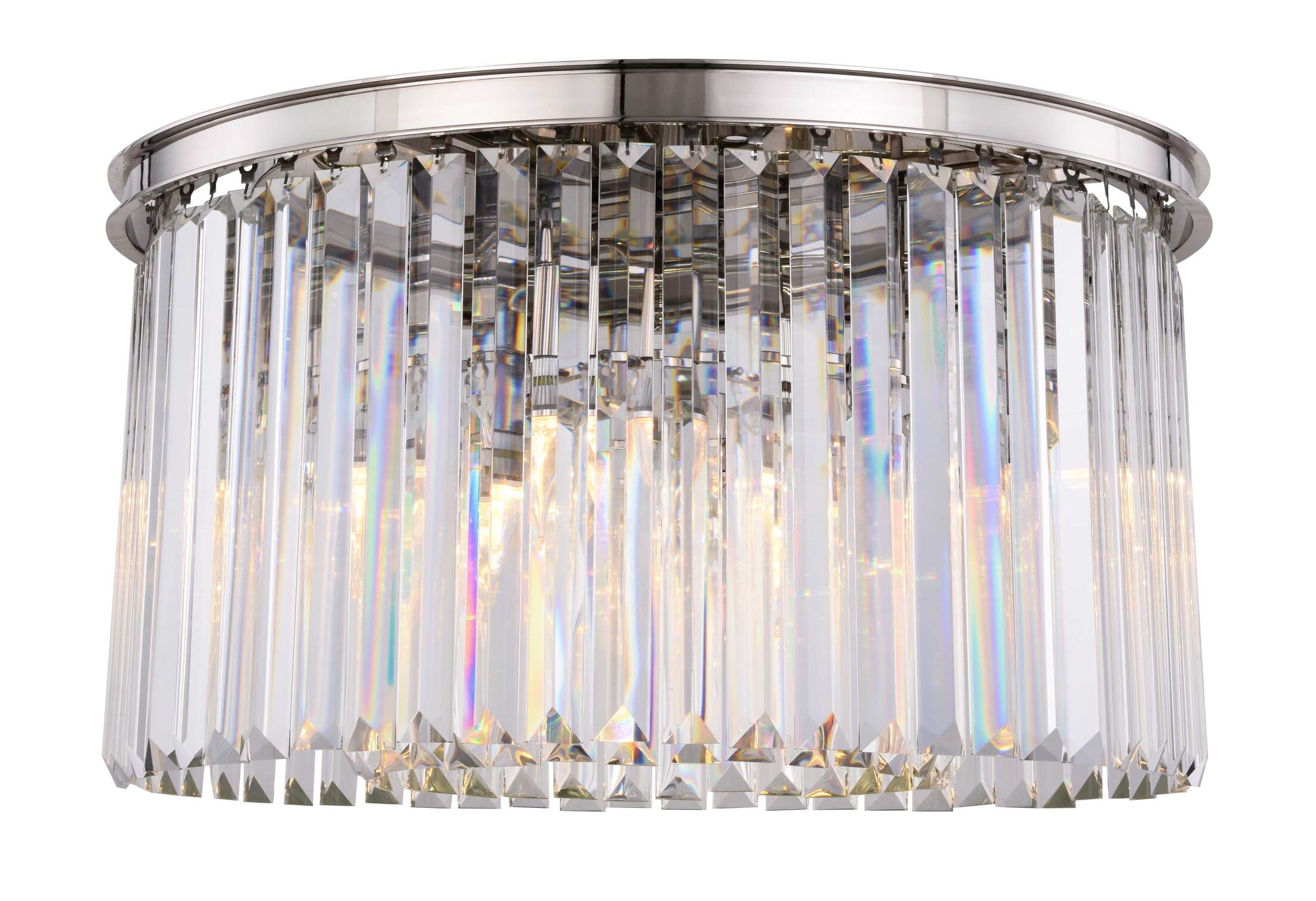 Lavinia 8-Light Flush Mount Shade Color: Clear, Fixture Finish: Polished Nickel