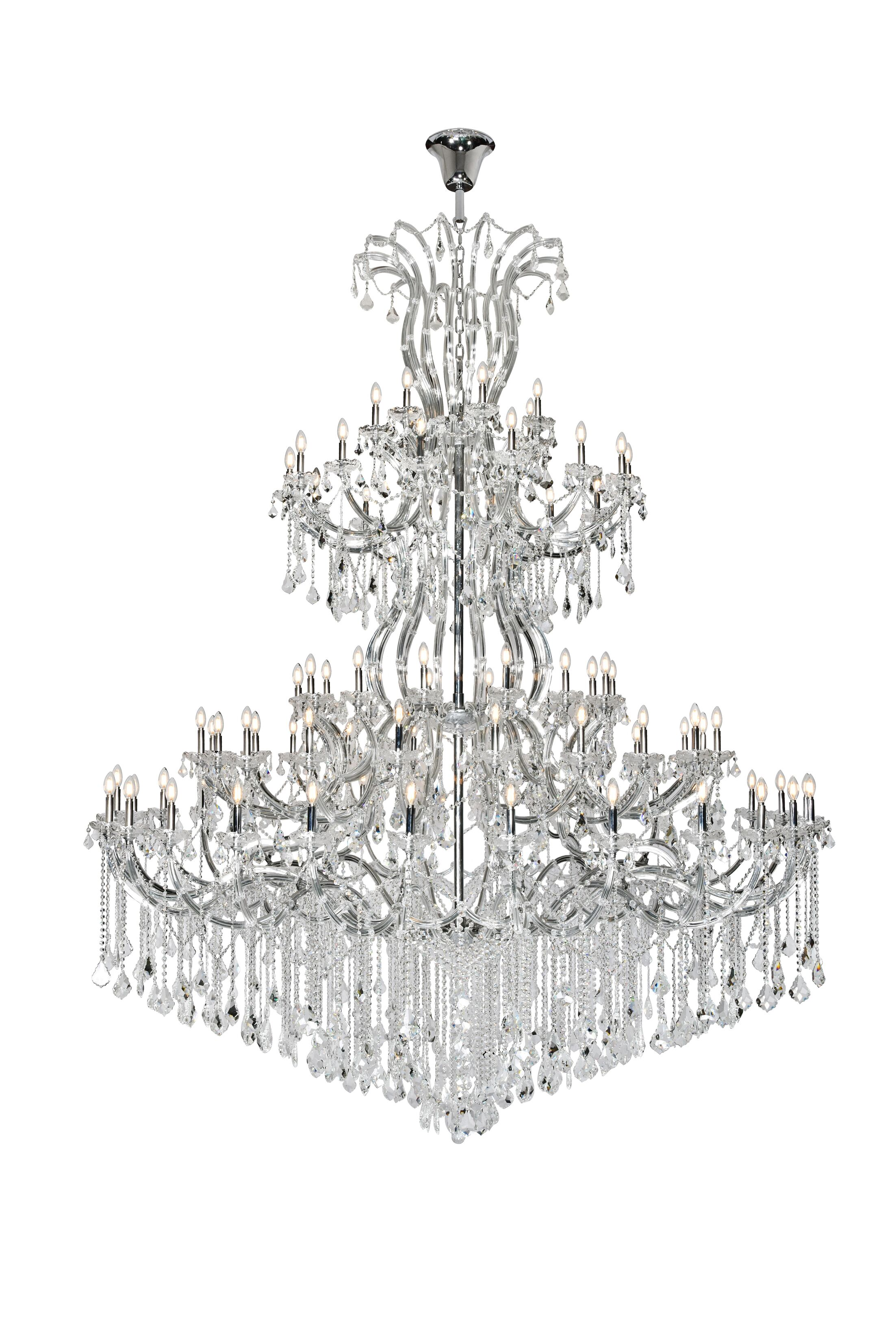 Regina 84-Light Chandelier Finish: Chrome, Crystal Type: Royal Cut