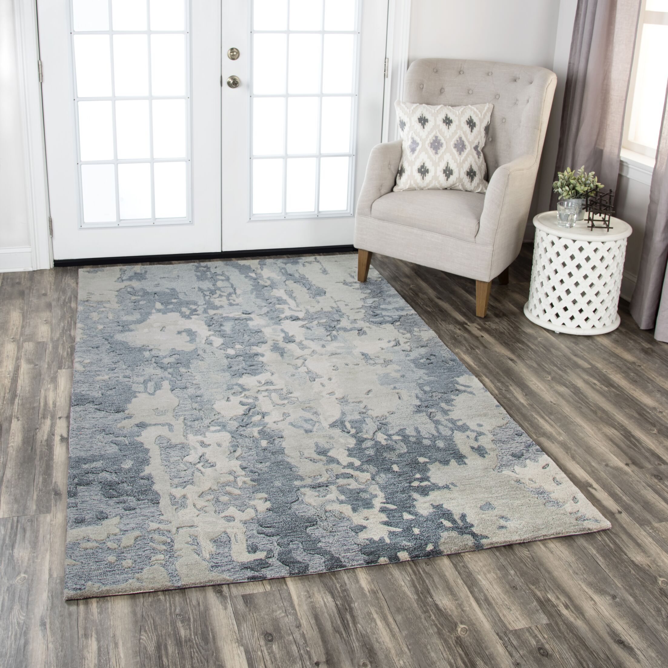 Greco Hand-Tufted Wool Gray Area Rug Rug Size: Rectangle 9' X 12'