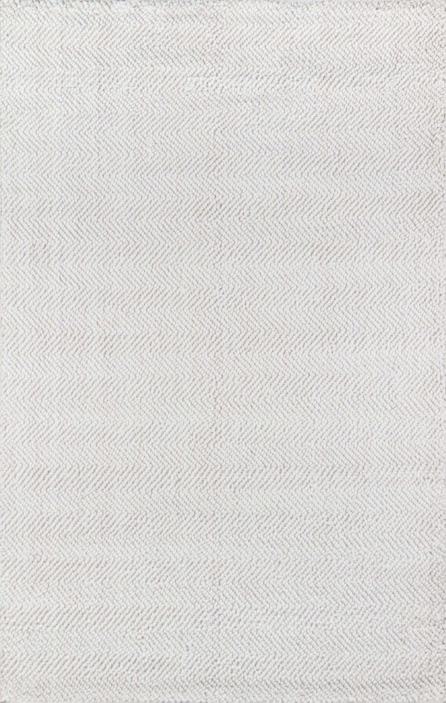 Ledgebrook Washington Hand-Woven Wool Ivory Area Rug Rug Size: Rectangle 8'9