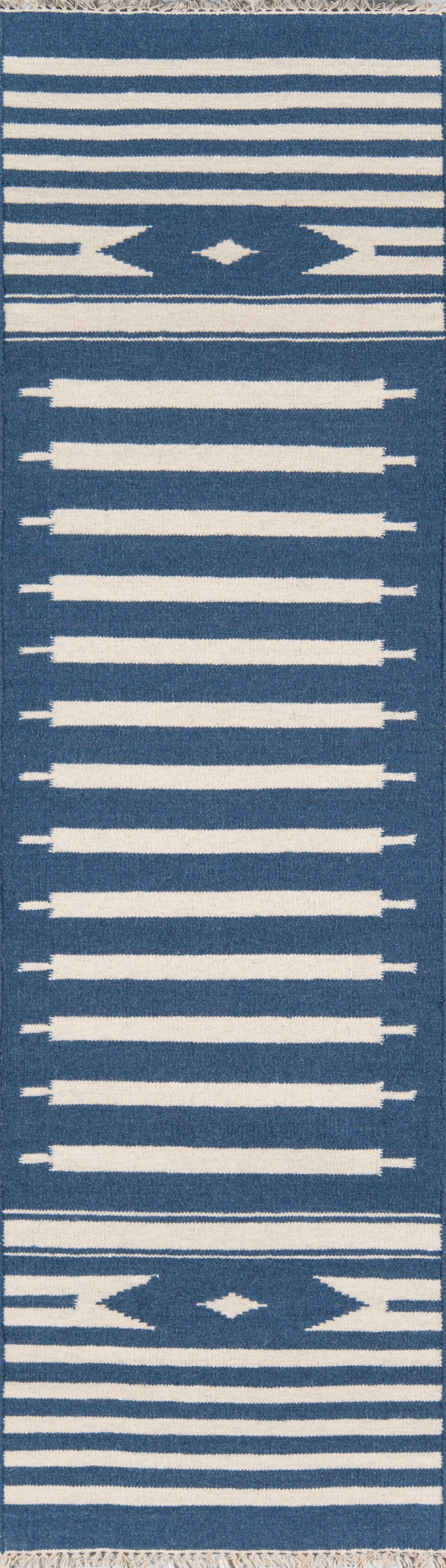 Thompson Billings Hand-Woven Wool Denim Area Rug Rug Size: Runner 2'3