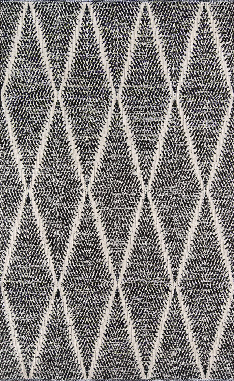 River Beacon Hand-Woven Black Area Rug Rug Size: Rectangle 7'6