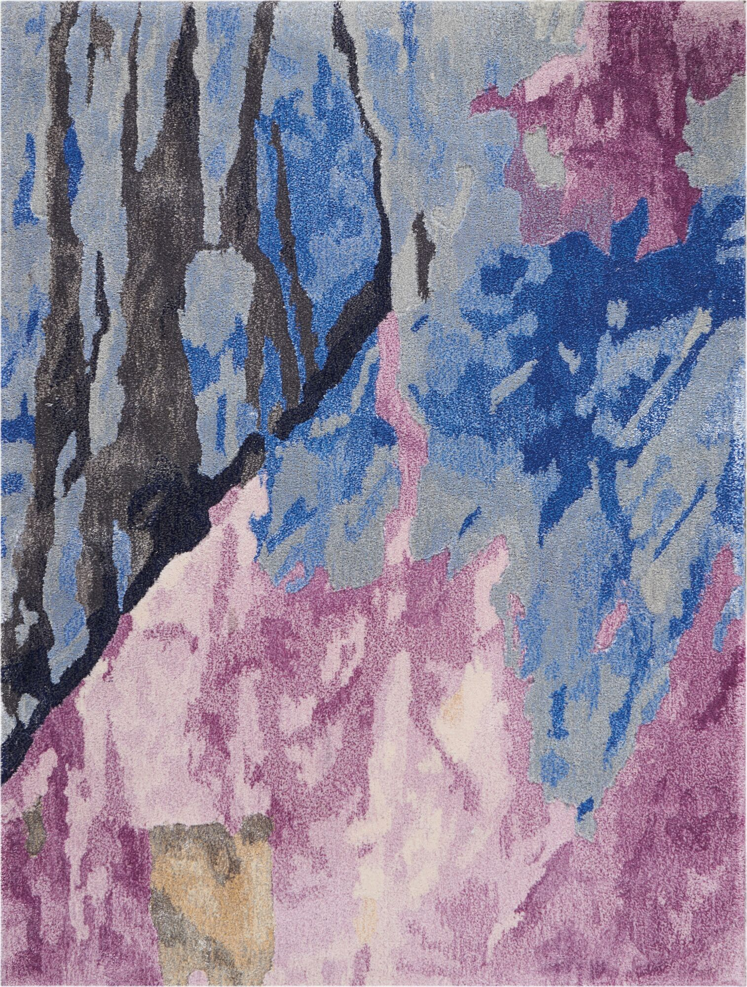 Machen Hand-Tufted Blue/Pink Area Rug Rug Size: Rectangle 2'3