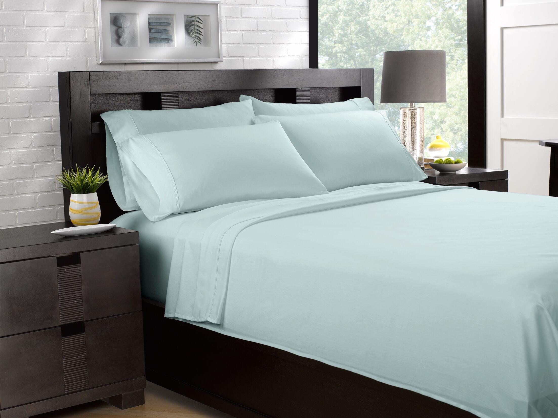 Etter Premium 700 Thread Count 100% Cotton Sheet Set Color: Blue, Size: California King