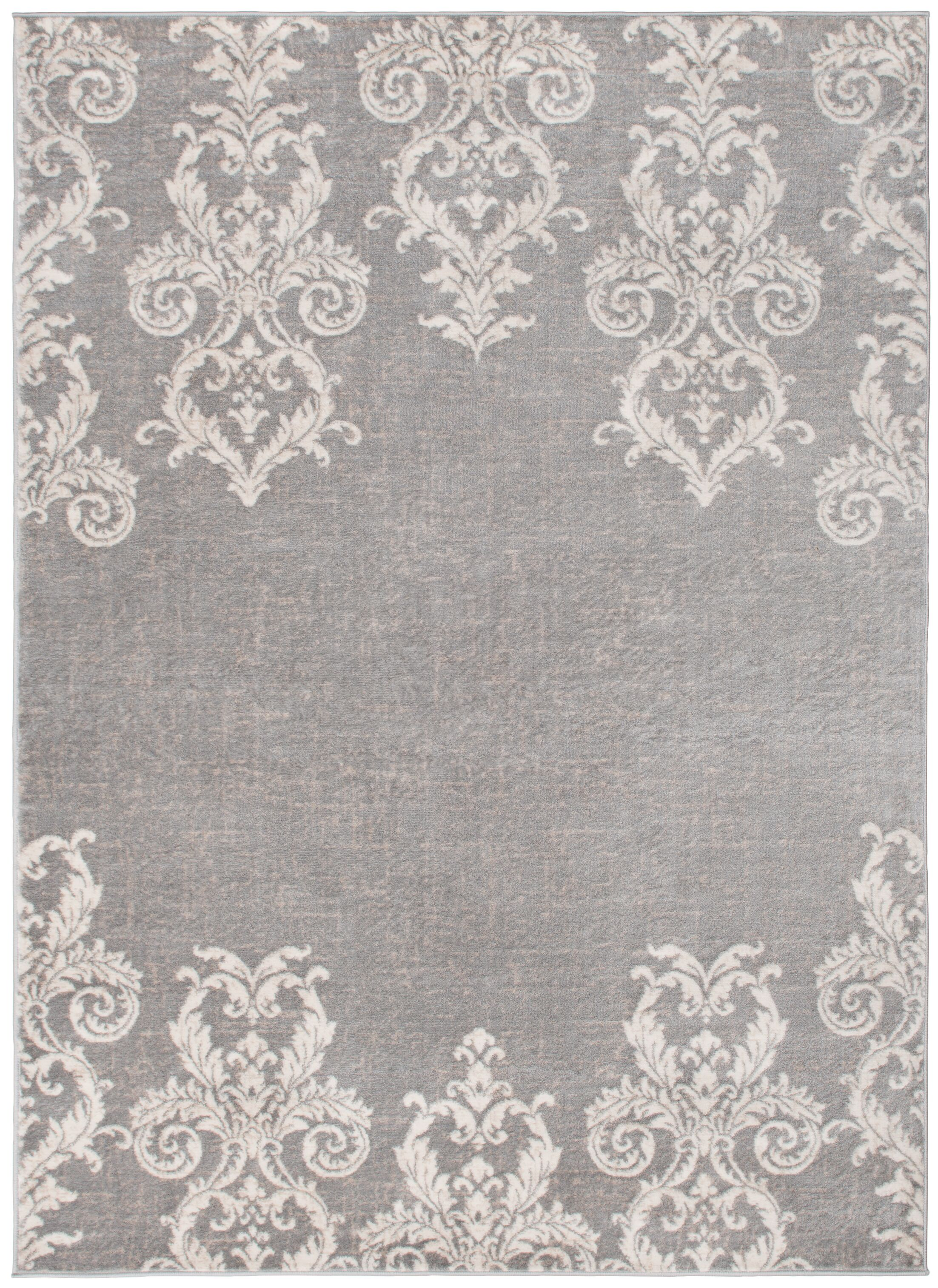 Bush Transitional Gray/Beige Area Rug Rug Size: Rectangle 7'10