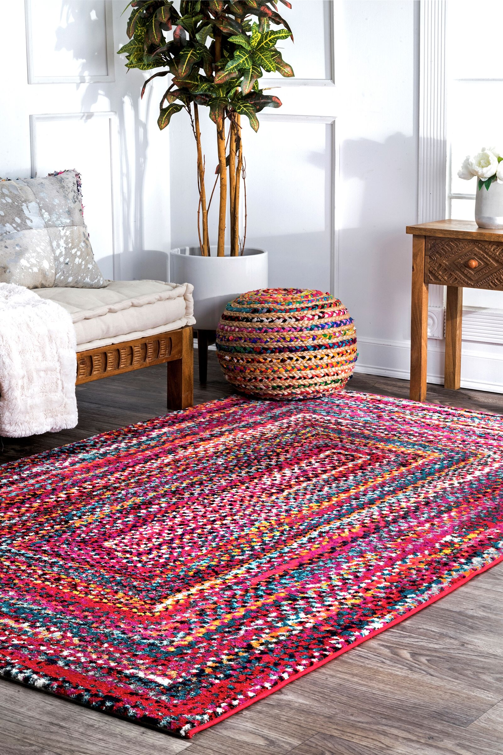 Pennsport Pink/Red Area Rug Rug Size: Rectangle 5' x 8'