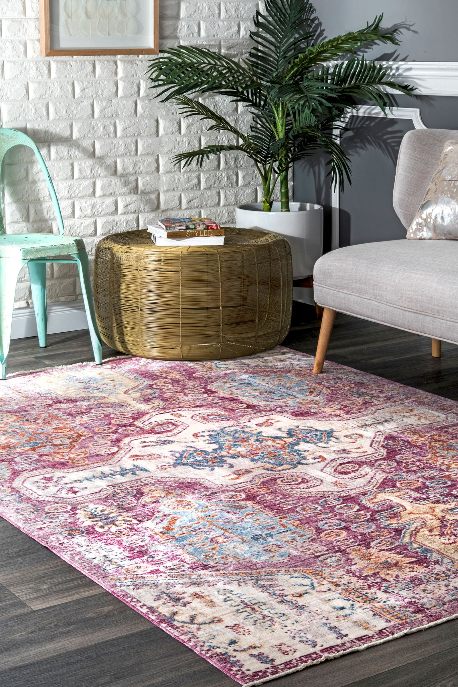 Penrod Pink Area Rug Rug Size: Rectangle 7'10