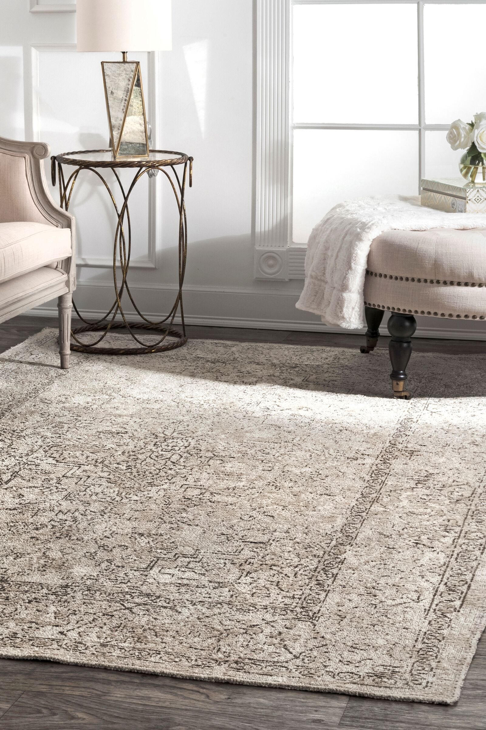Lattimer Beige Area Rug Rug Size: Rectangle 5'3