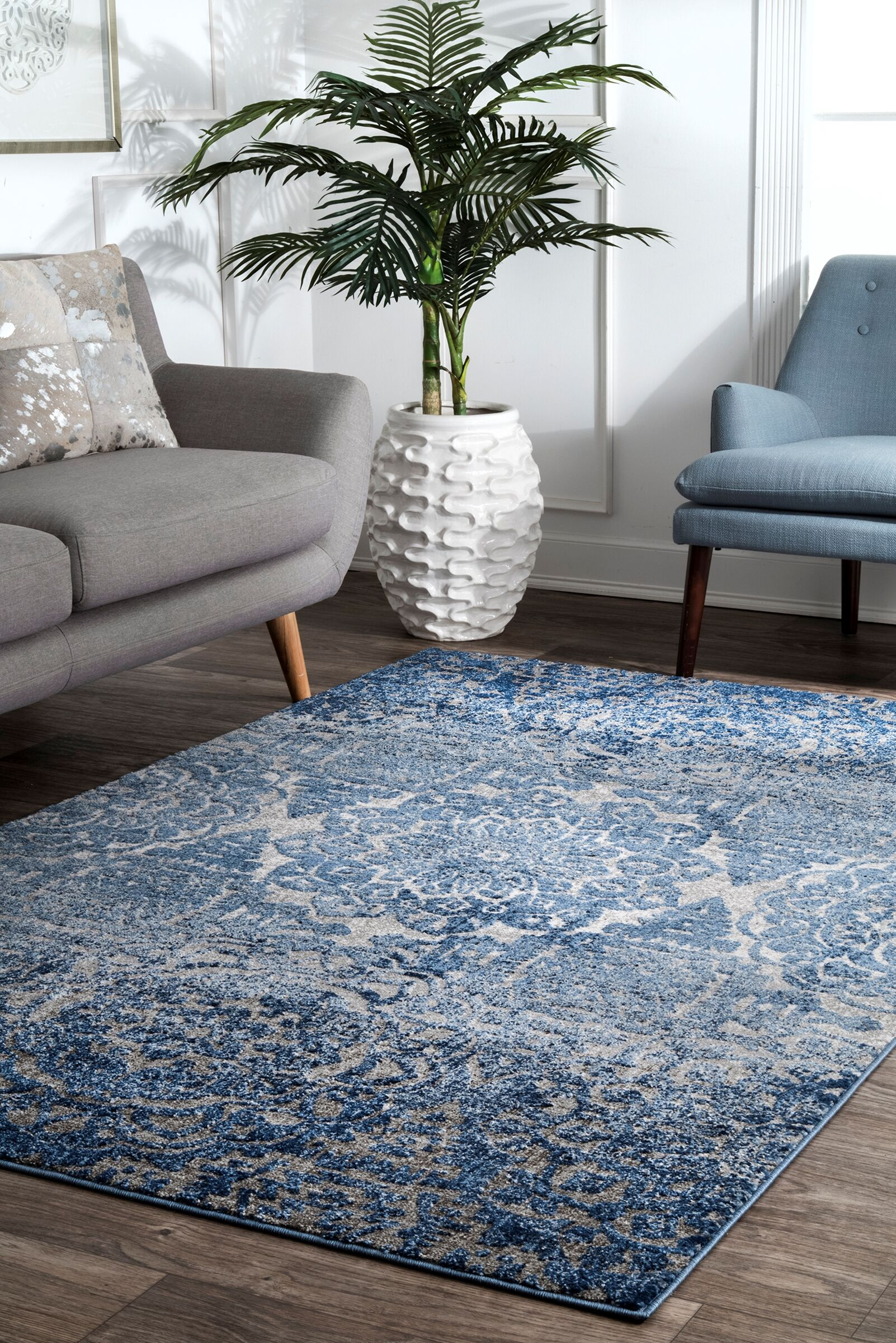 Pensford Blue Area Rug Rug Size: Rectangle 5' x 7'5