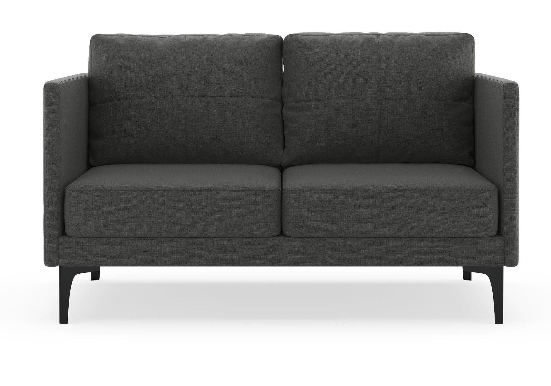 Cromartie Loveseat Finish: Black, Upholstery: Ocean Gray
