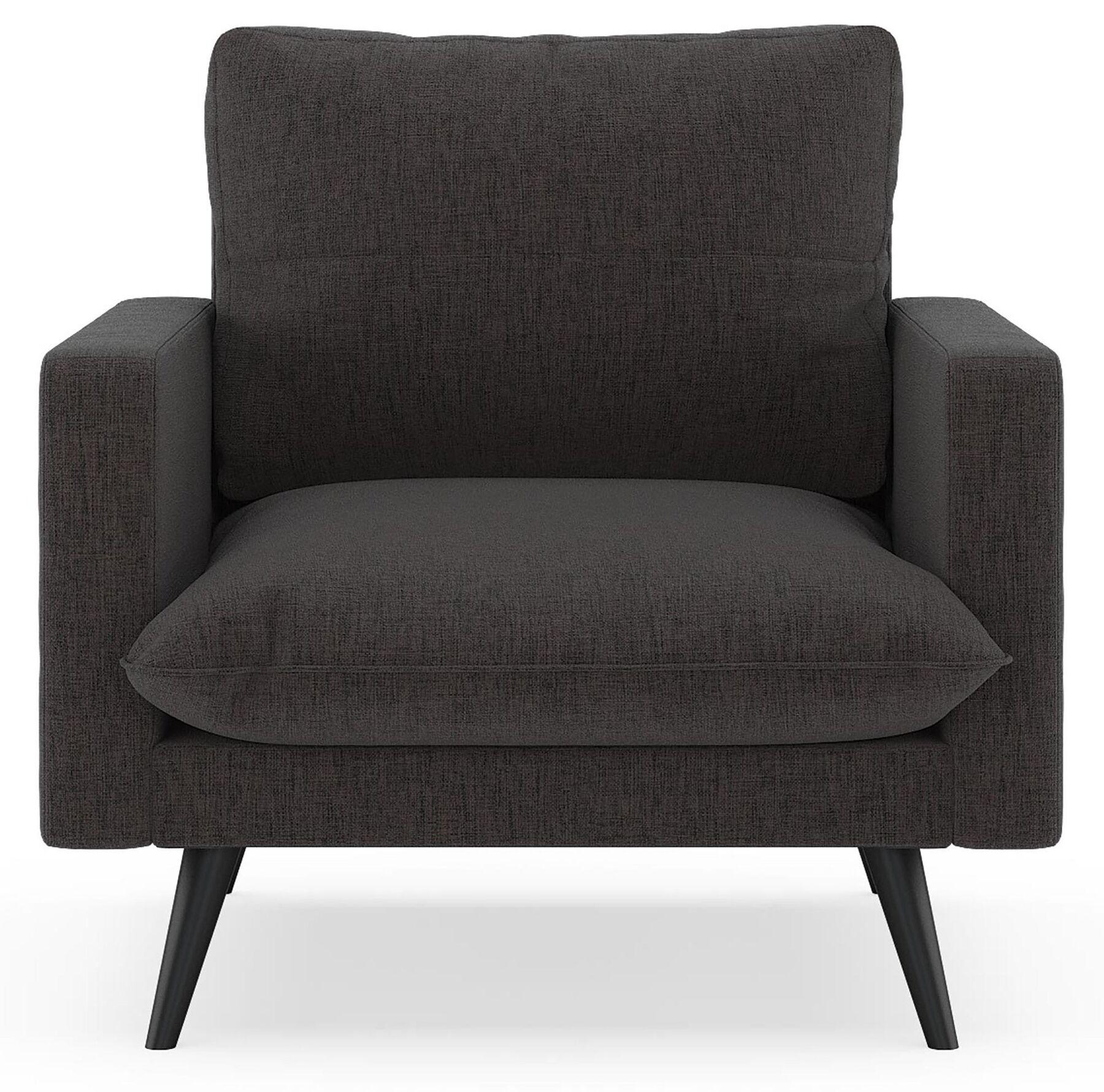 Cronk Armchair Upholstery: Avocado, Finish: Black