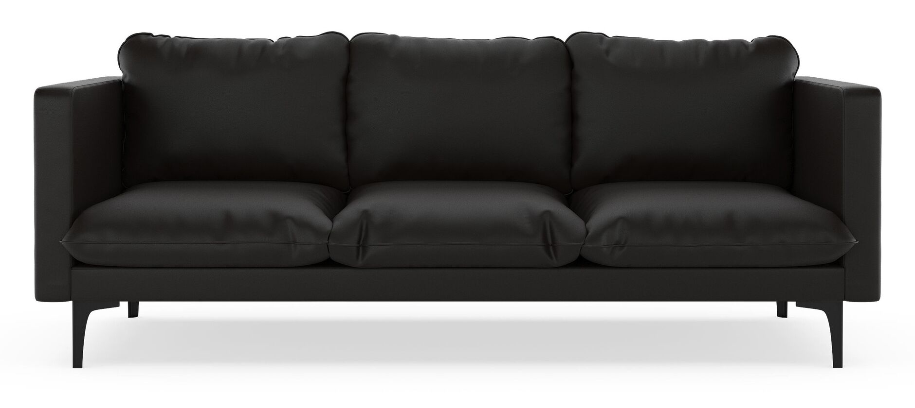 Rumford Sofa Finish: Chrome, Upholstery: Onyx