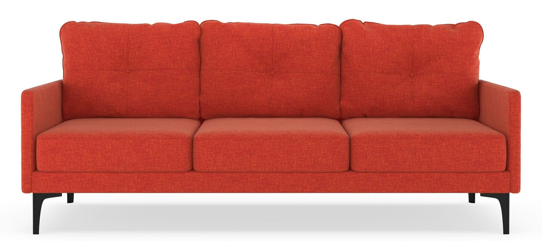 Cronin Sofa Upholstery: Raven Gray, Finish: Brass
