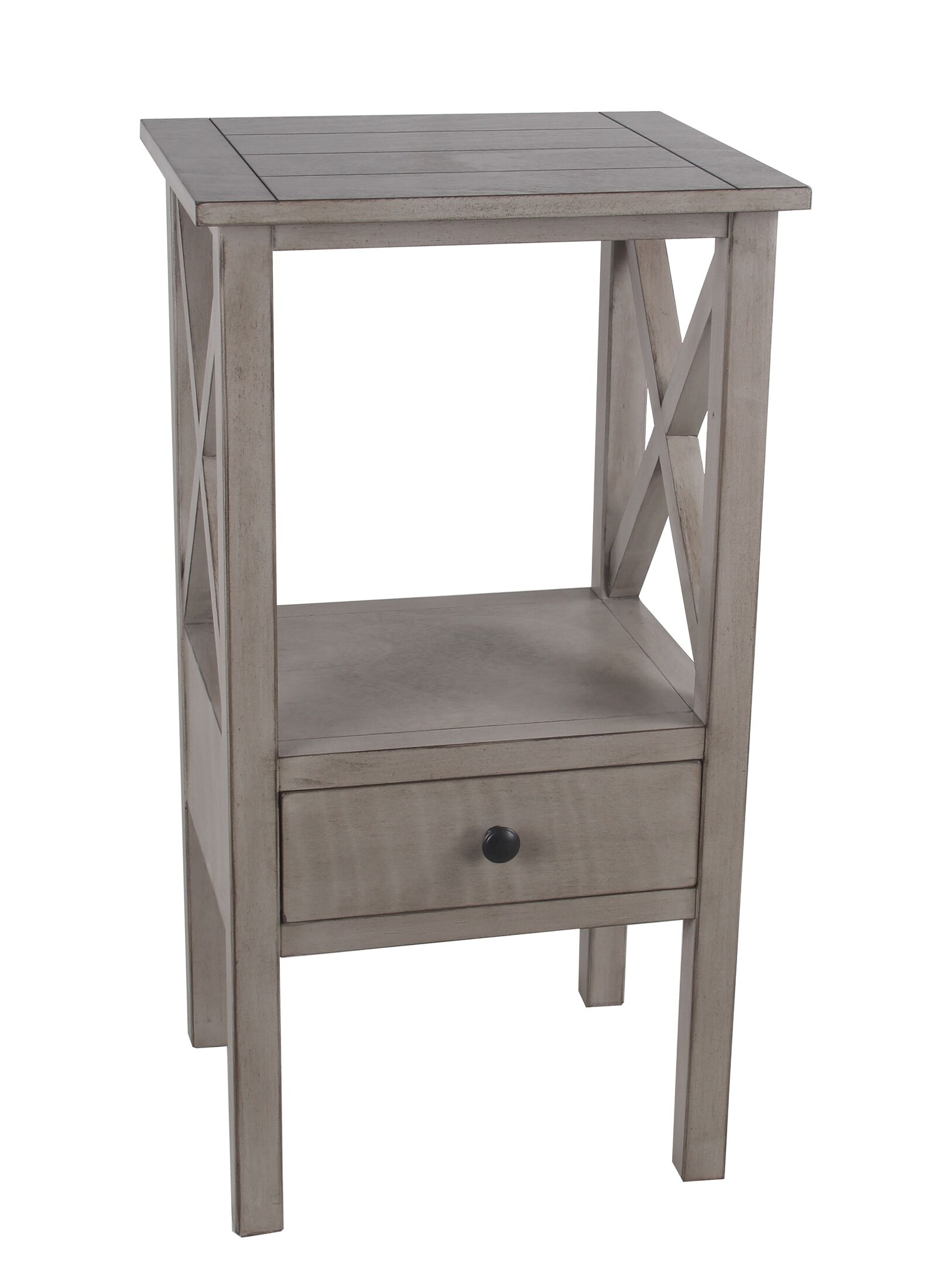 Kilraghts 1 Drawer End Table with Storage Color: Oyster