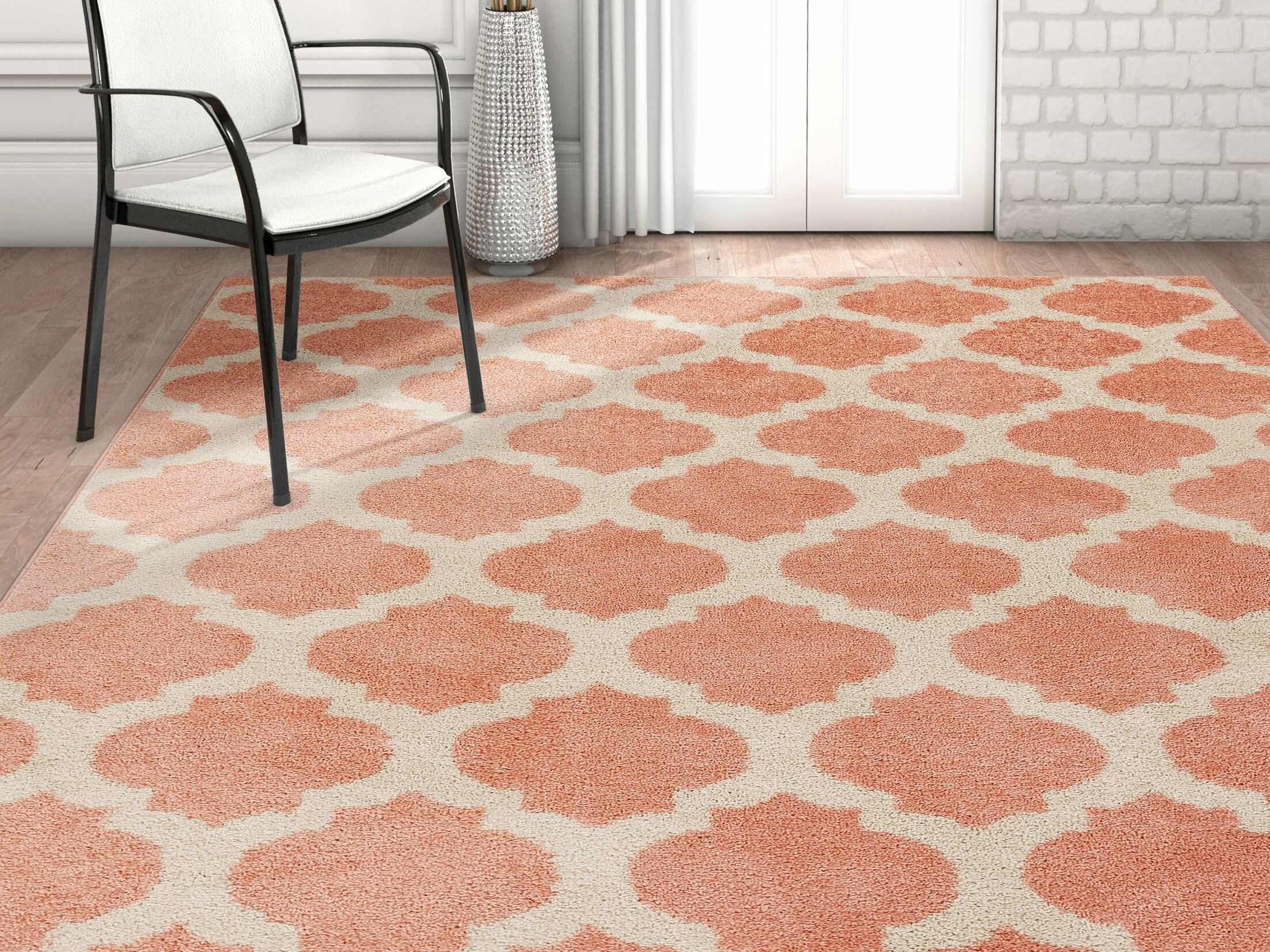 Rubino Trellis Lattice Geo Blush Area Rug Rug Size: Rectangle 7'10