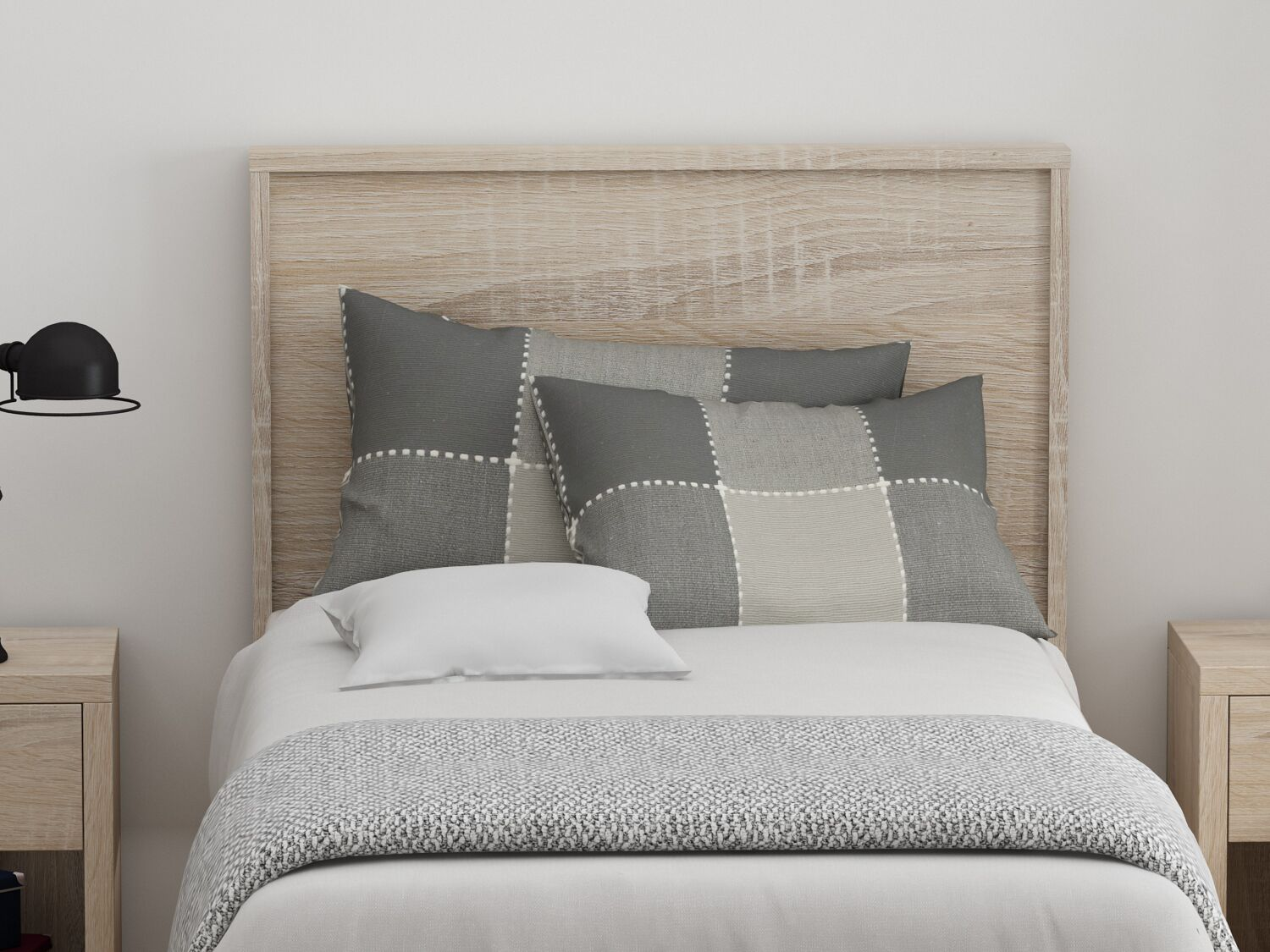 Cowell Panel Headboard Color: Natural, Size: Twin
