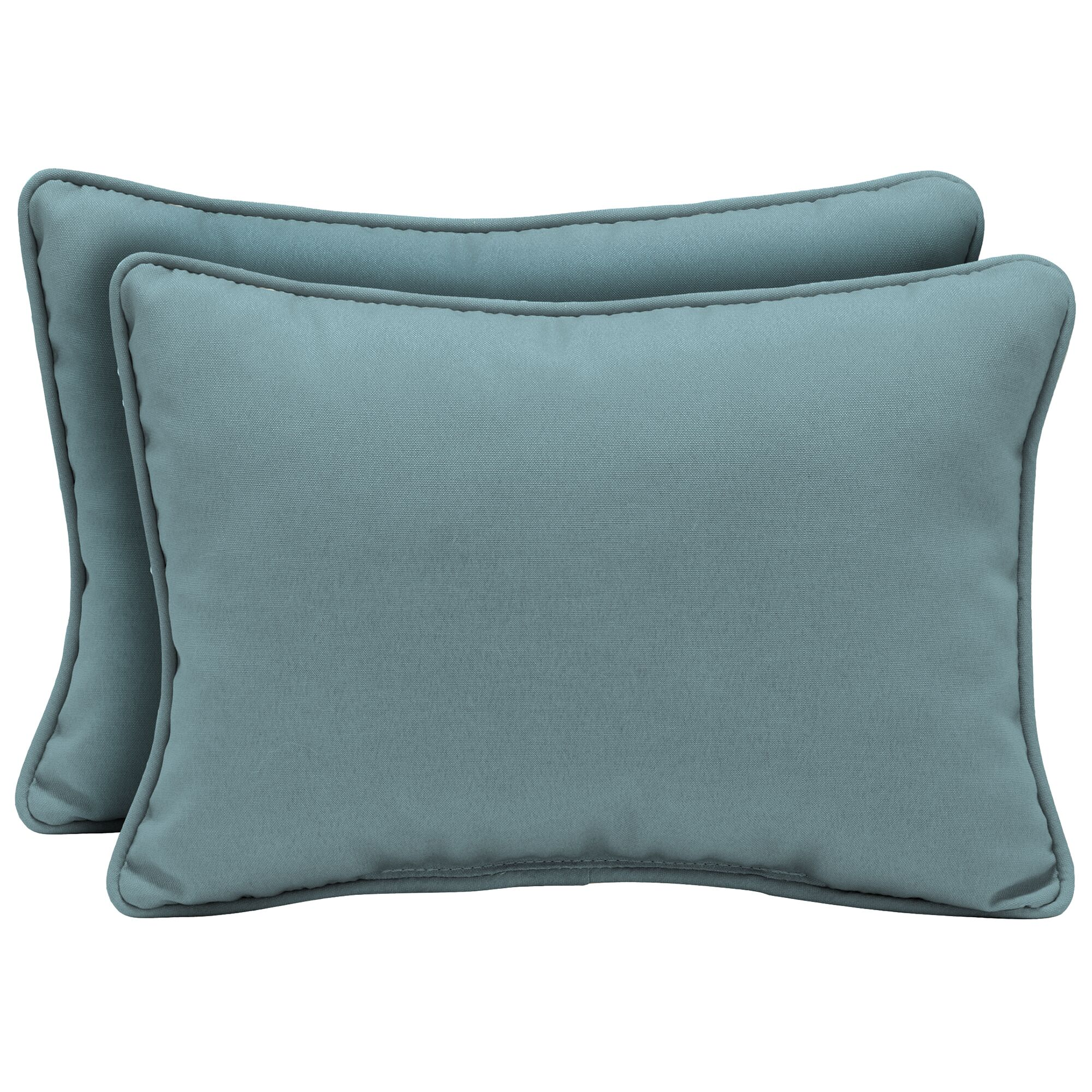 Cangelosi Texture Outdoor Lumbar Pillow Color: Blue/Green