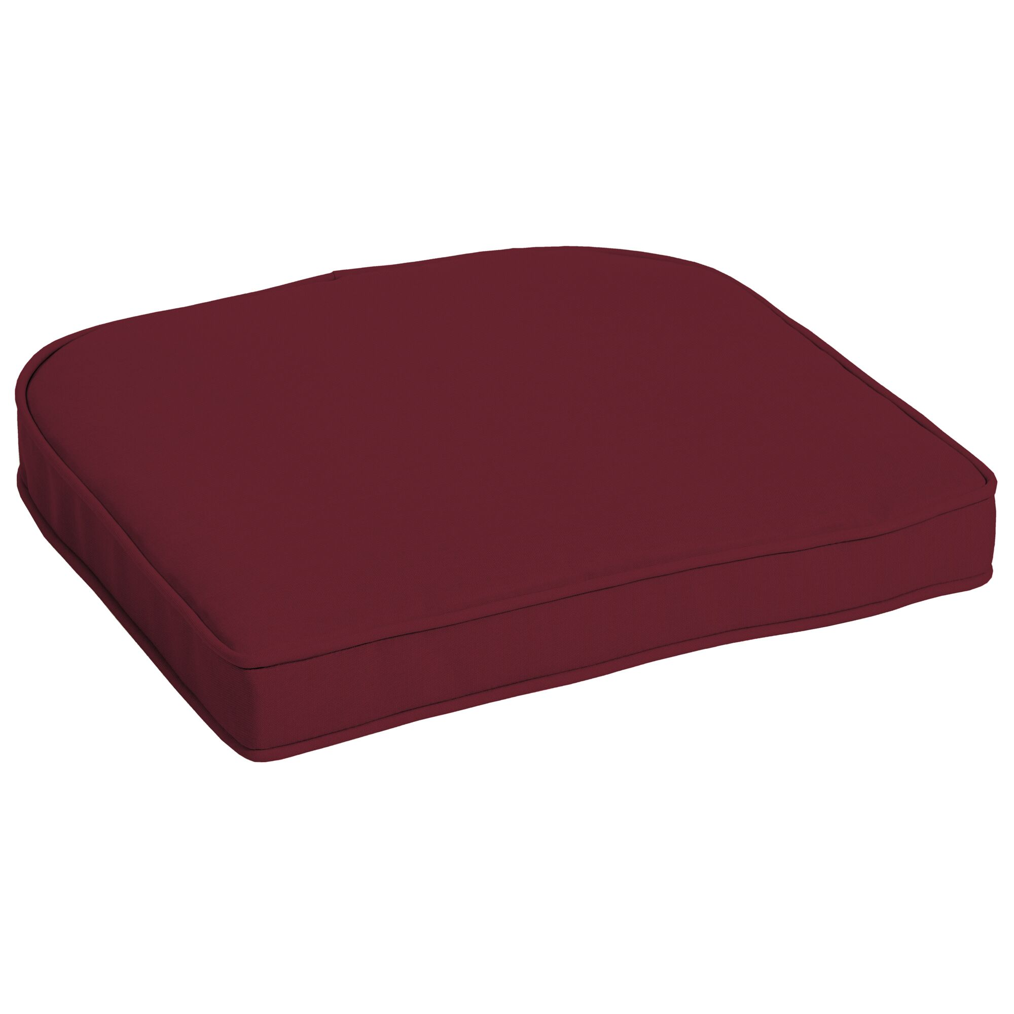 Texture Outdoor Dining Chair Cushion Fabric: Red