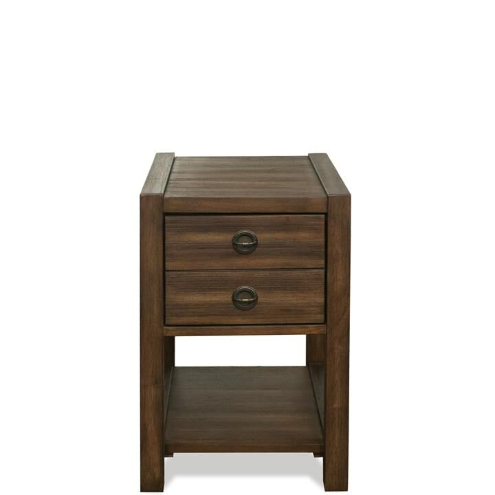 Arbyrd End Table with Storage Color: Brushed Acacia