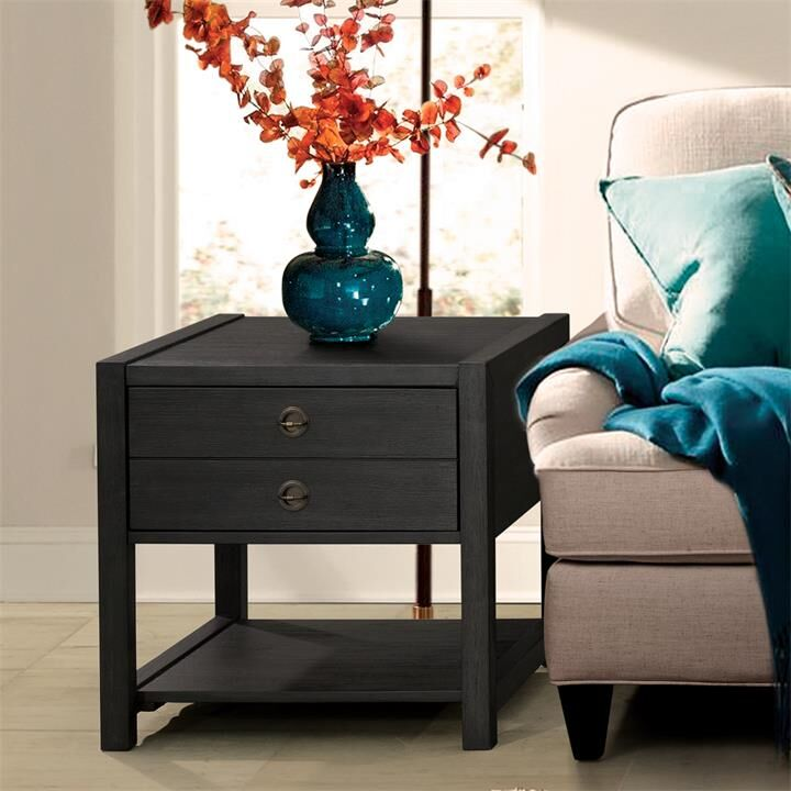 Arbyrd End Table with Storage Color: Ebonized Acacia