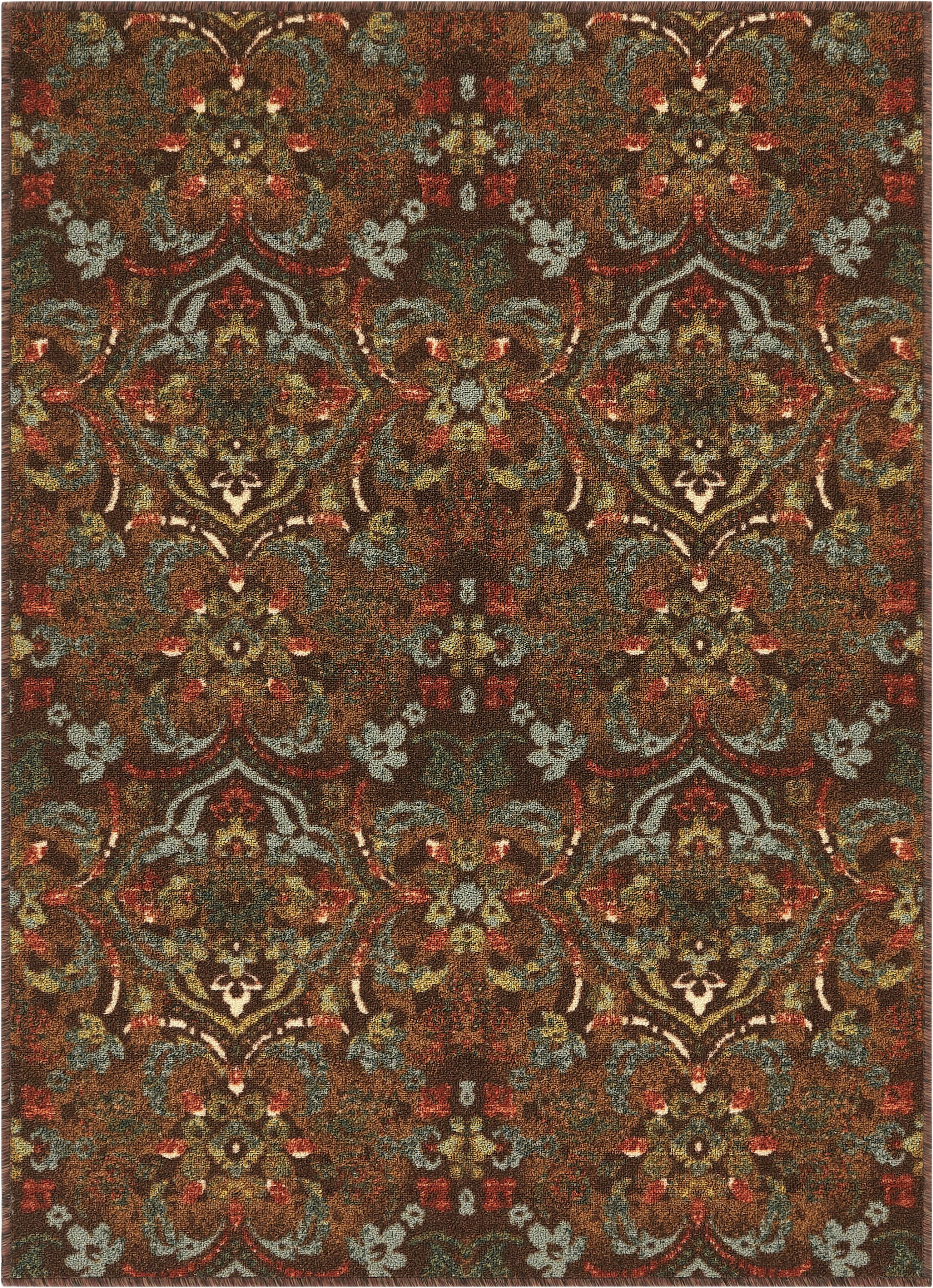 Josephine Traditional Floral Brown Area Rug Rug Size: Rectangle 5' x 7'