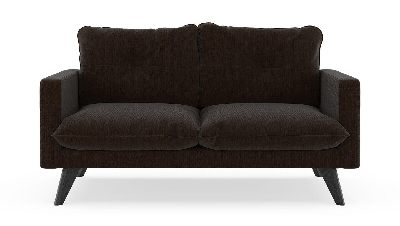 Crossman Loveseat Finish: Black, Upholstery: Wheat