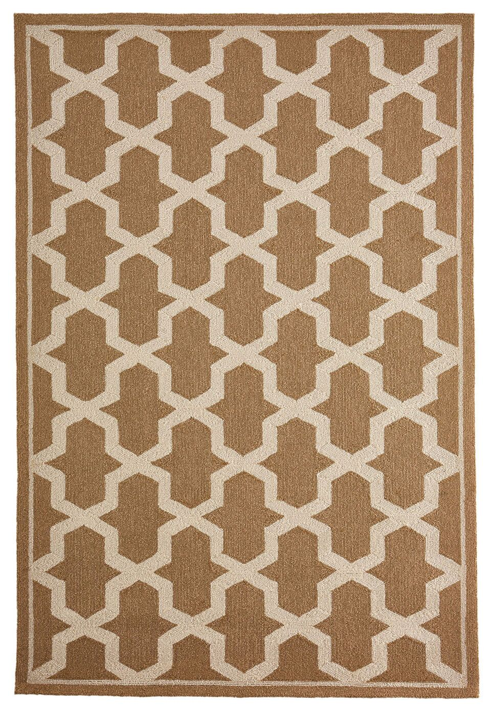 Enoch Geometric Hand-Woven Camel Indoor/Outdoor Area Rug Rug Size: Rectangle 5' x 7'6