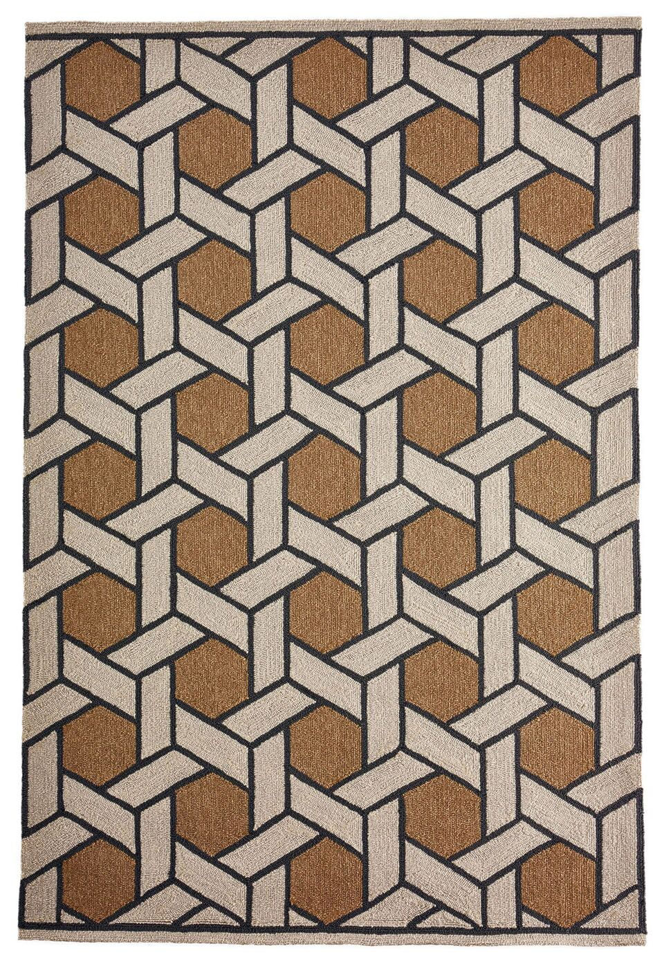 Enoch Basket Hand-Woven Camel/Light Gray Indoor/Outdoor Area Rug Rug Size: Rectangle 5' x 7'6
