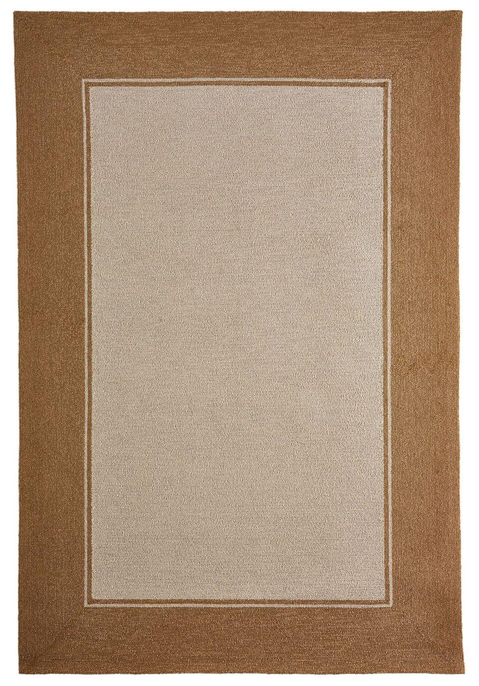 Enoch Border Hand-Woven Camel Indoor/Outdoor Area Rug Rug Size: Rectangle 5' x 7'6