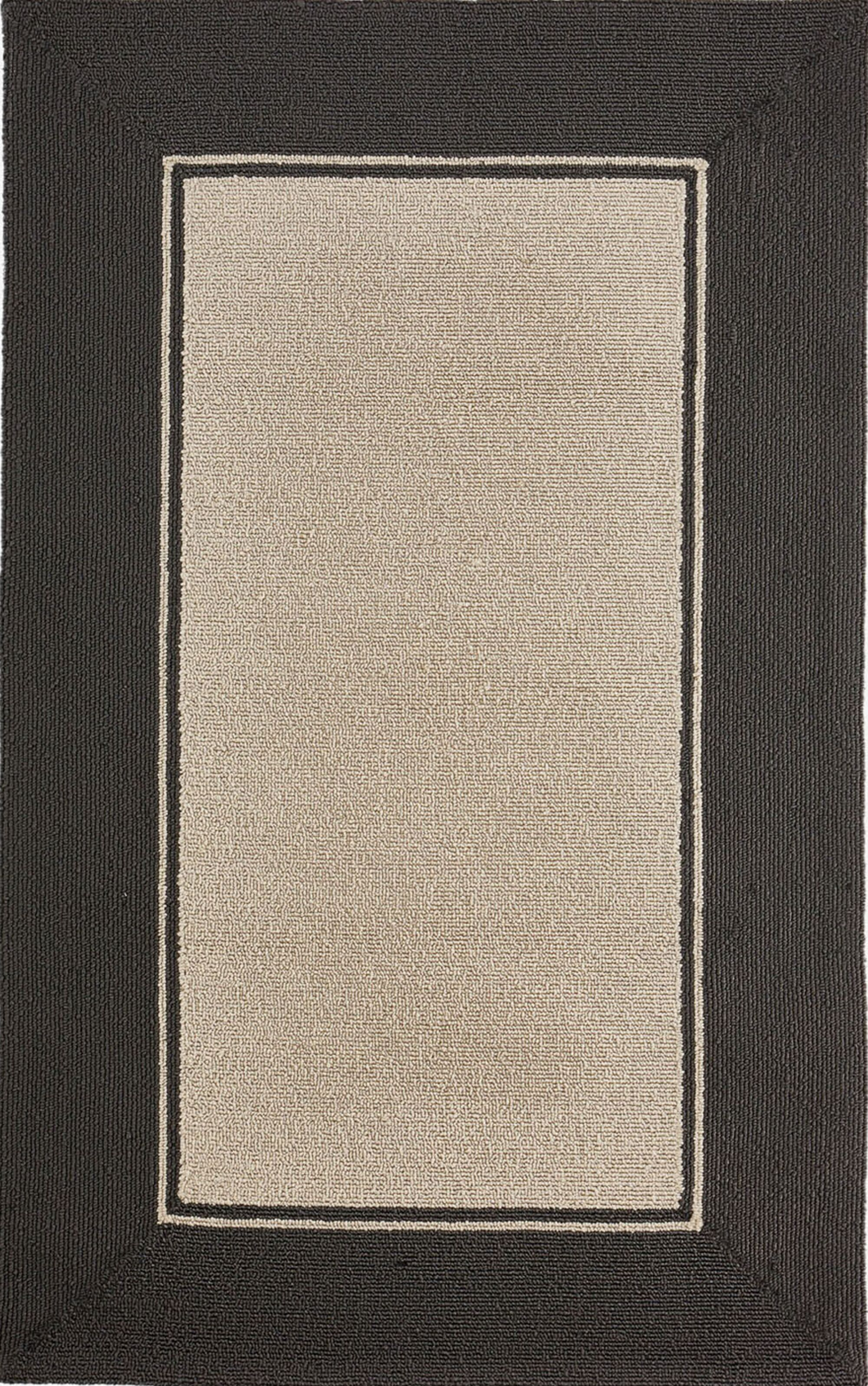 Enoch Border Hand-Woven Black Indoor/Outdoor Area Rug Rug Size: Rectangle 3'6