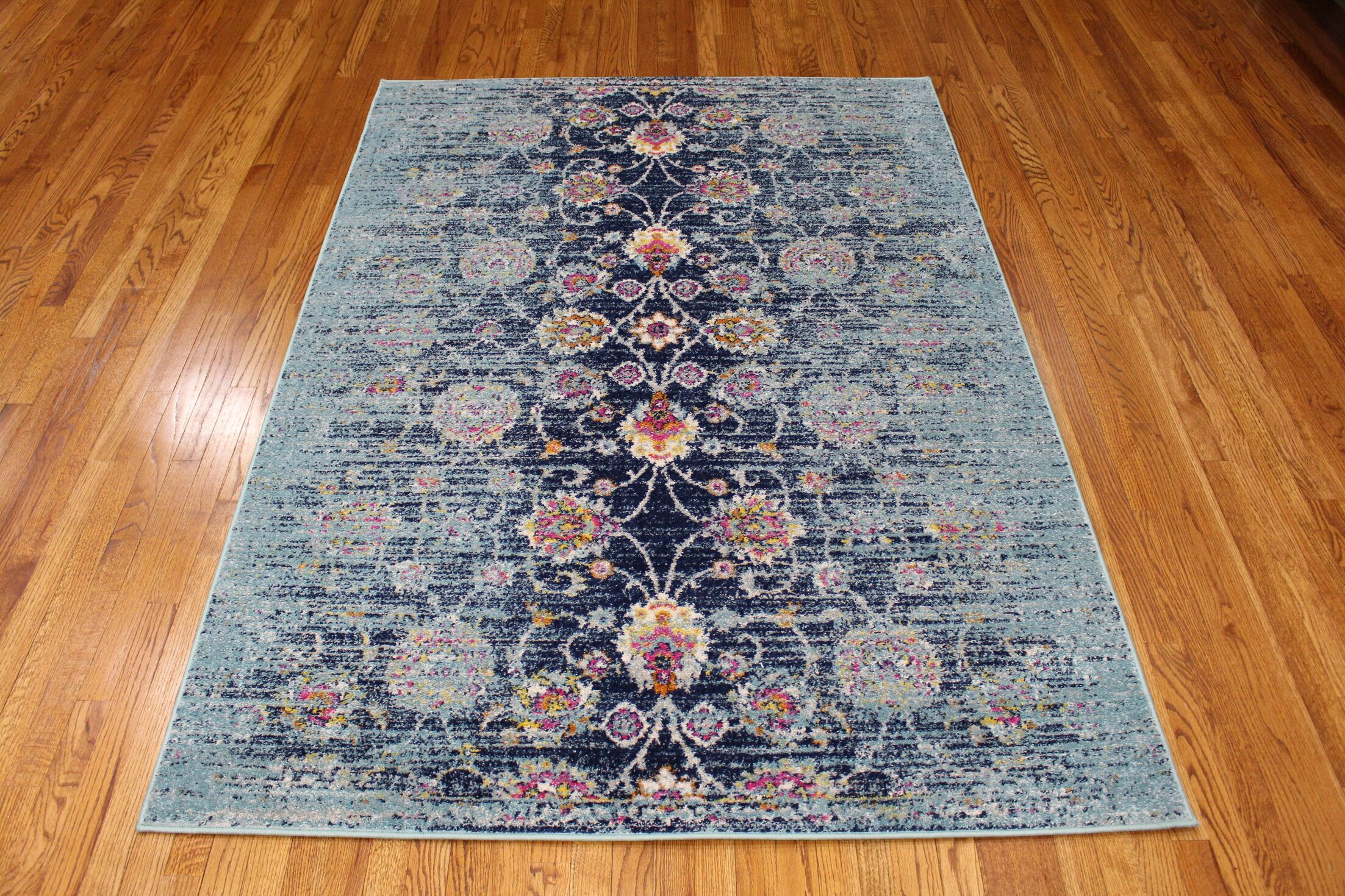 Pena Navy Area Rug Rug Size: Rectangle 5' x 7'1