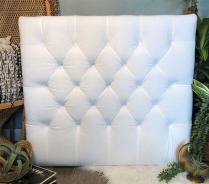 Honig Diamond Tufted Twin/Twin XL Upholstered�Panel Headboard Upholstery: White