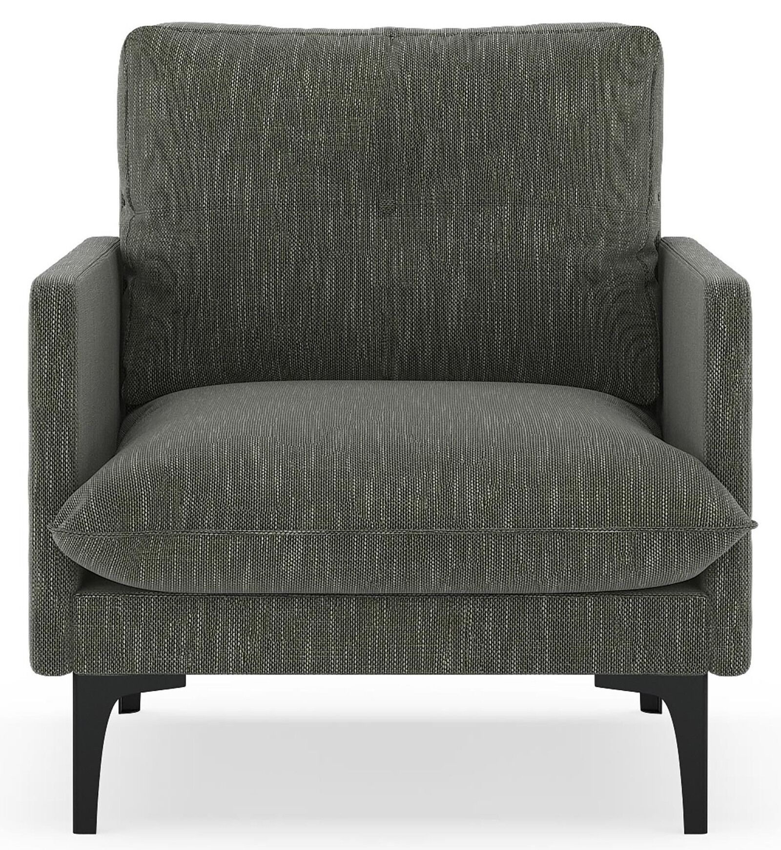 Crotty Armchair Upholstery: Cloud Gray, Finish: Brass