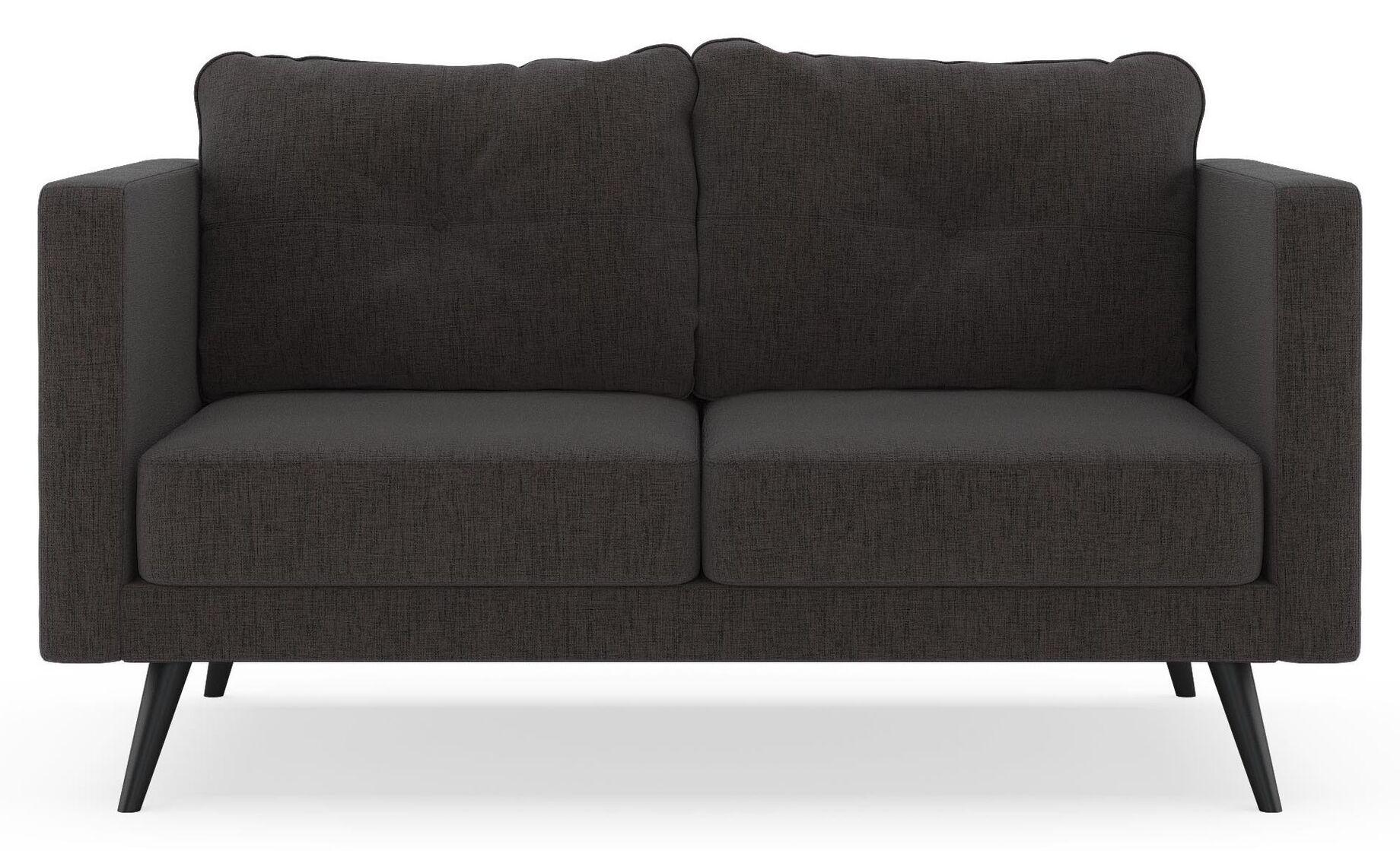 Croley Loveseat Upholstery: Heathered Slate, Finish: Chrome