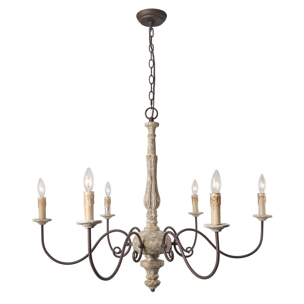 Leib Elegance French Country 6-Light Chandelier