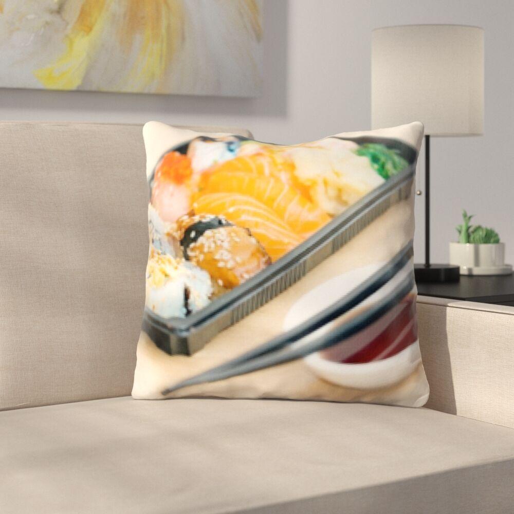 Bernardino Cooking Sushi Plate Throw Pillow