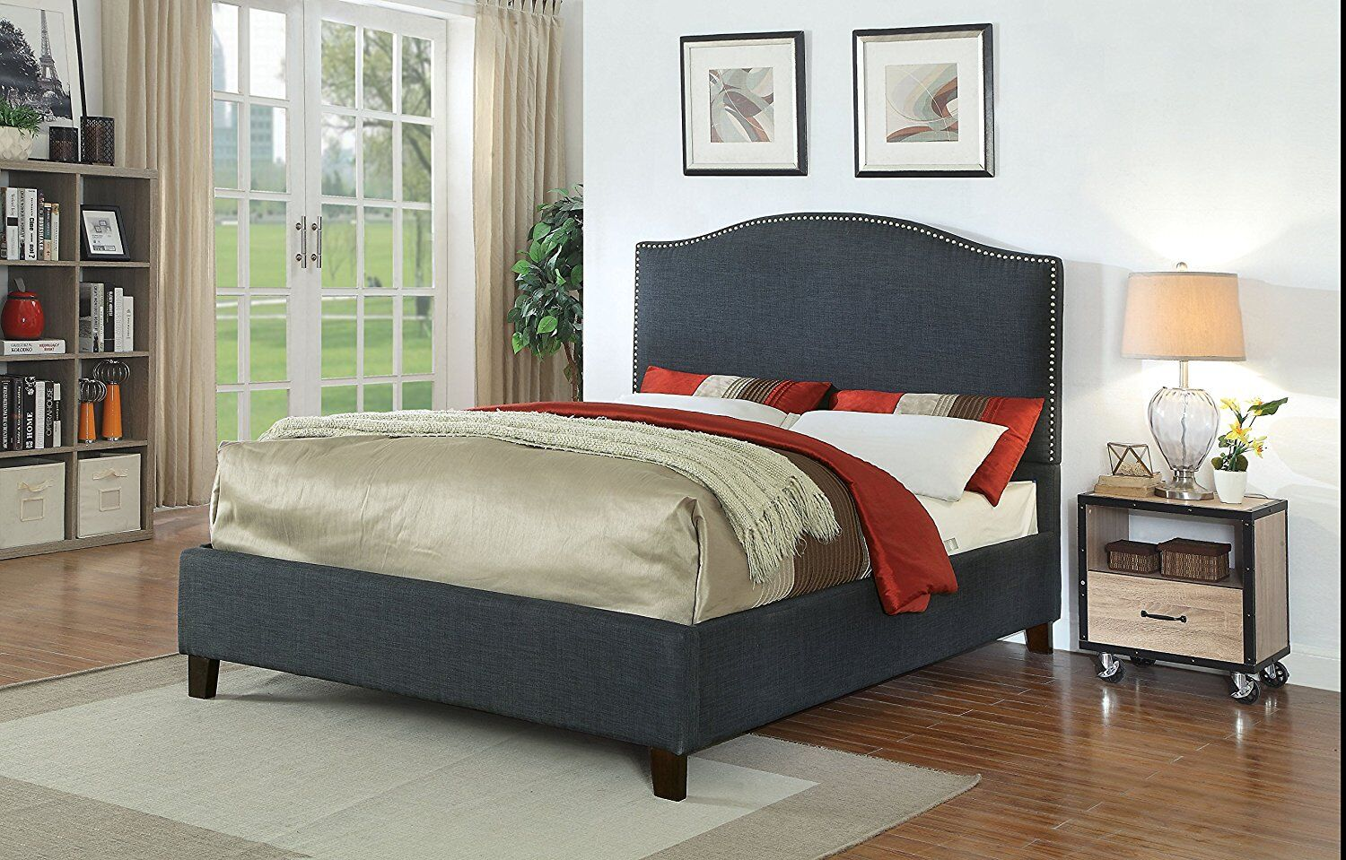Huntsberry Queen Upholstered Platform Bed